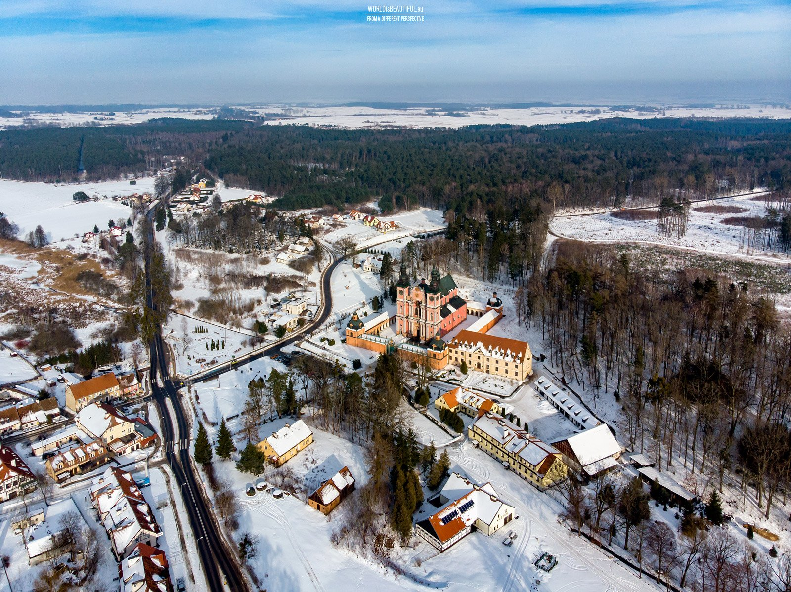 Święta Lipka in winter