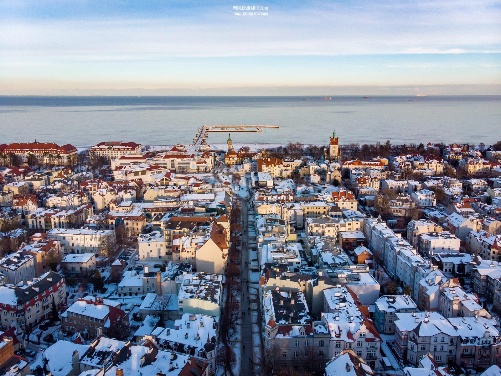 Winter panorama of Sopot
