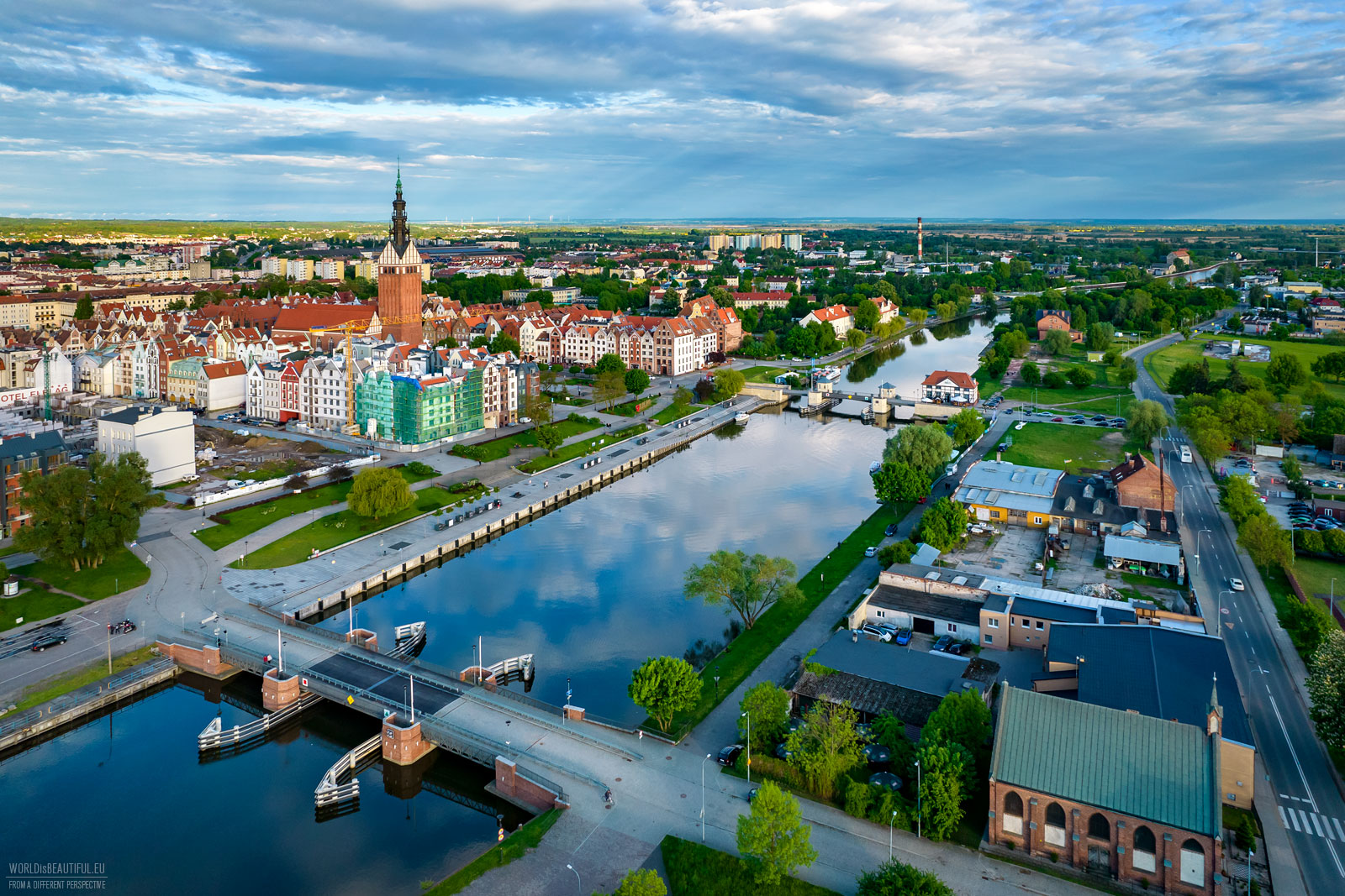 Elblag from a bird's eye view