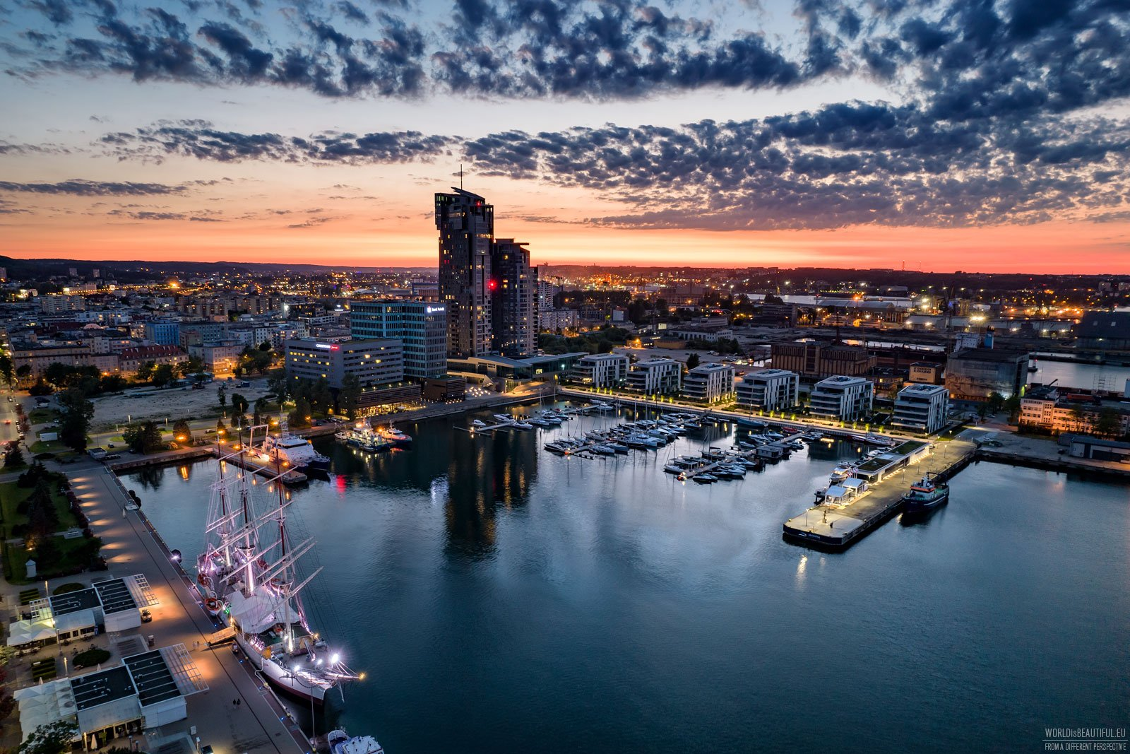 Yacht Park - apartment buildings and marina