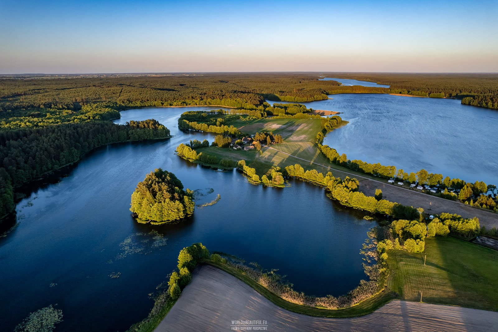 Lakes in forest - beautiful views in Bory Tucholskie