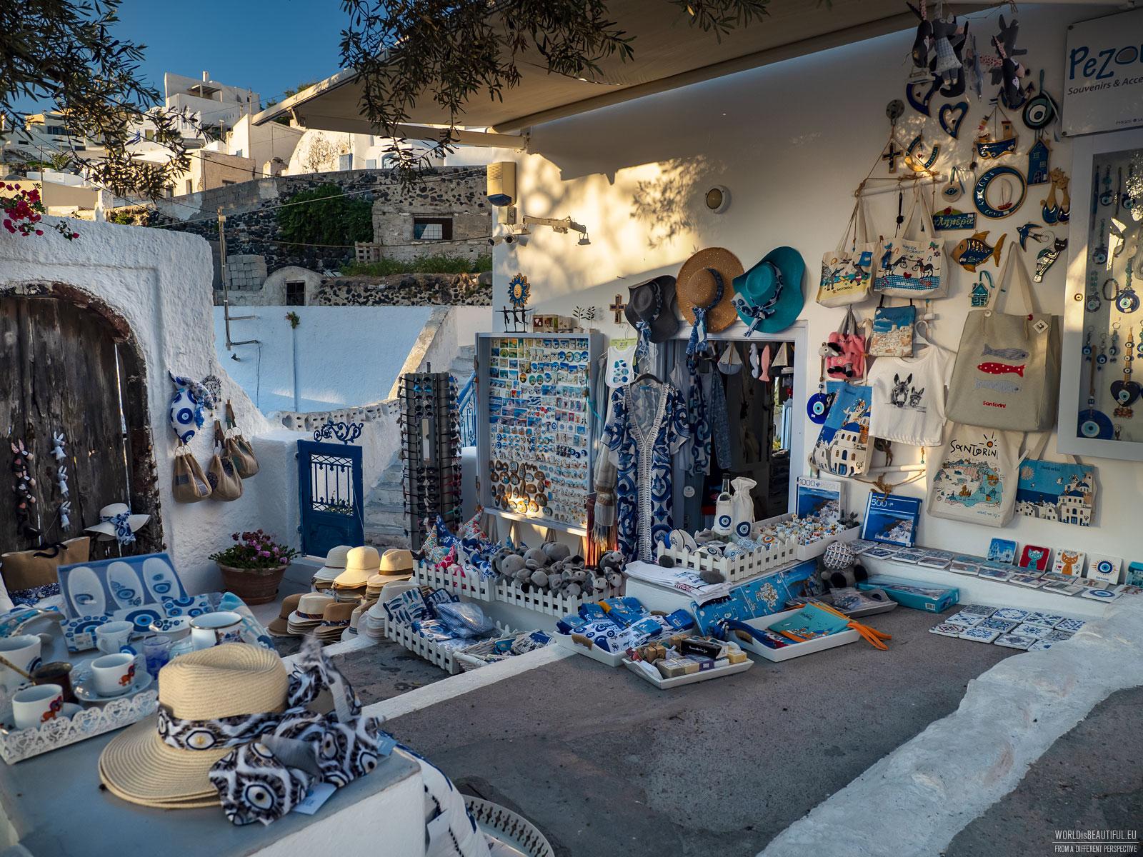 Pamiątki z Santorini