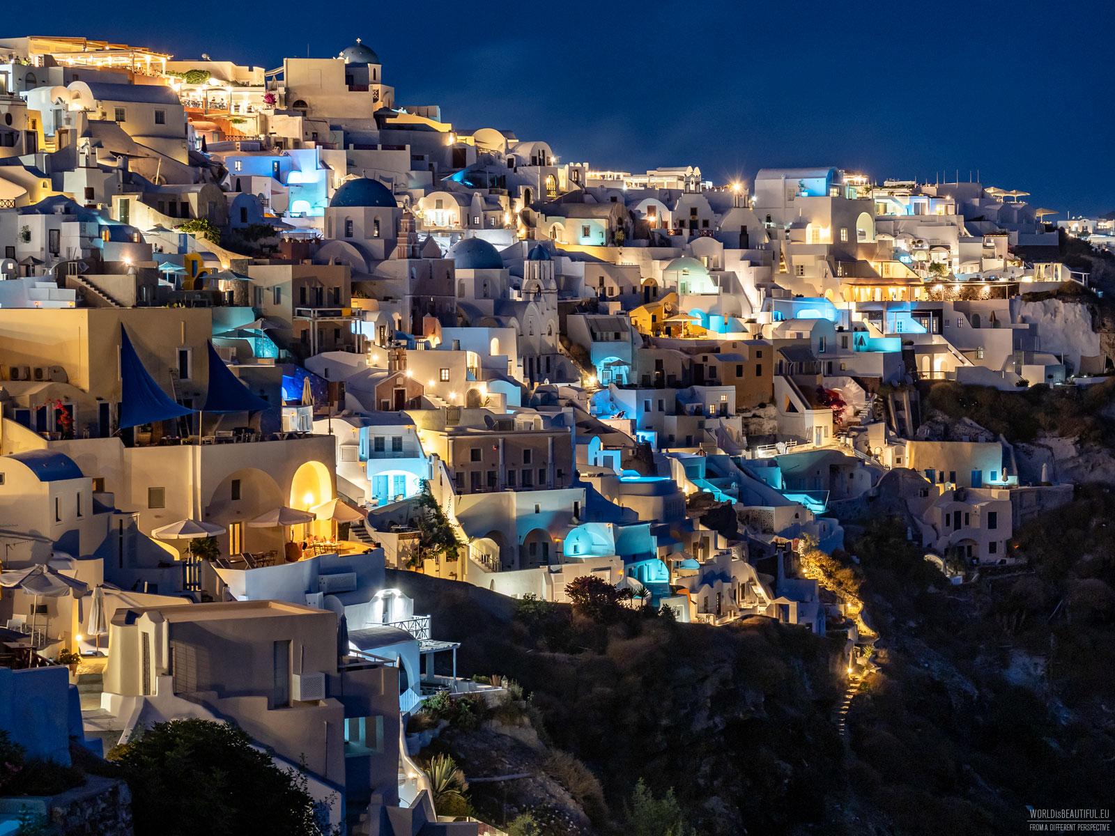 A night in Santorini