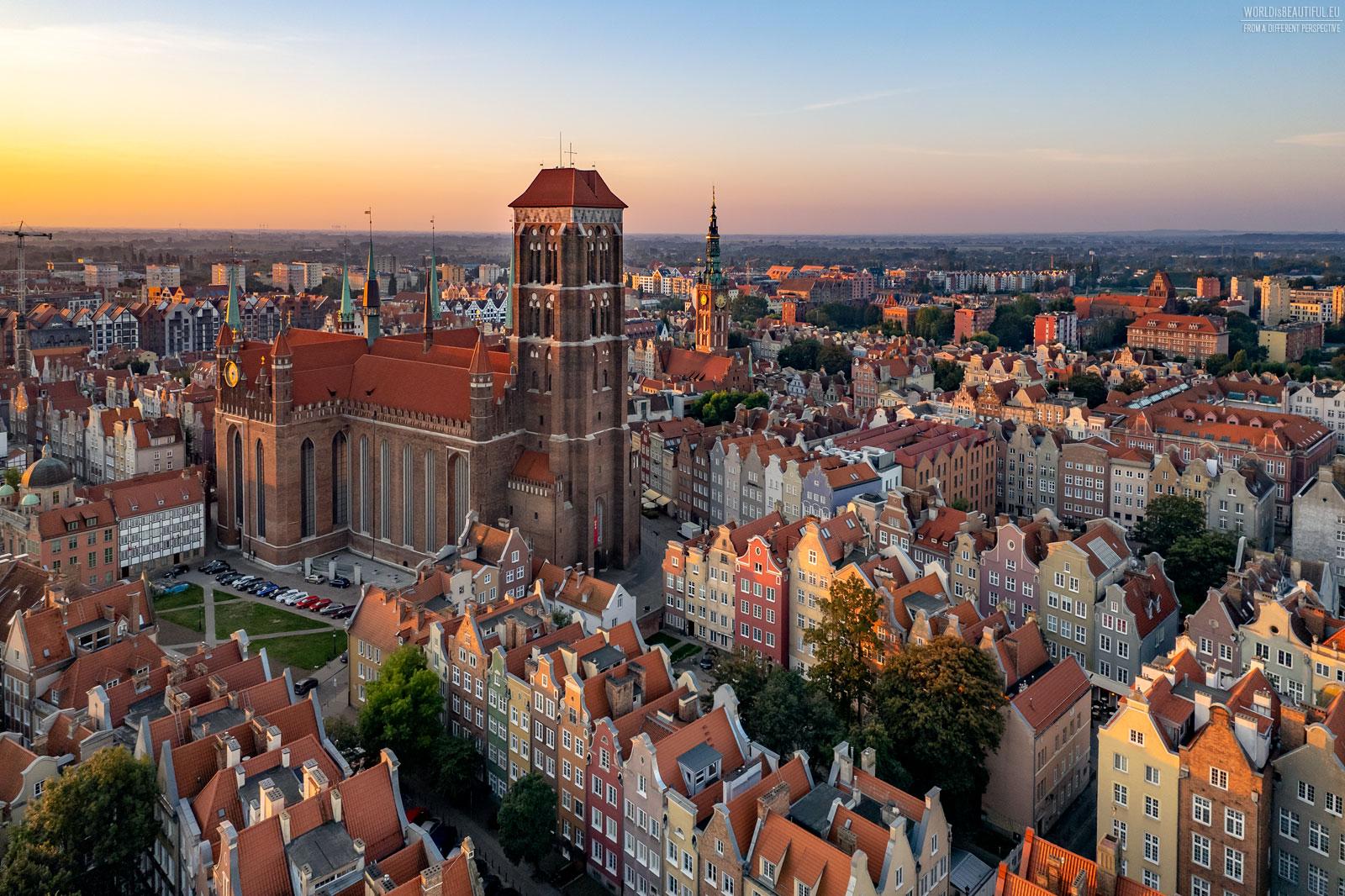 Summer morning in Gdańsk