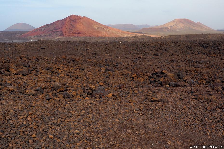 Red volcanoes
