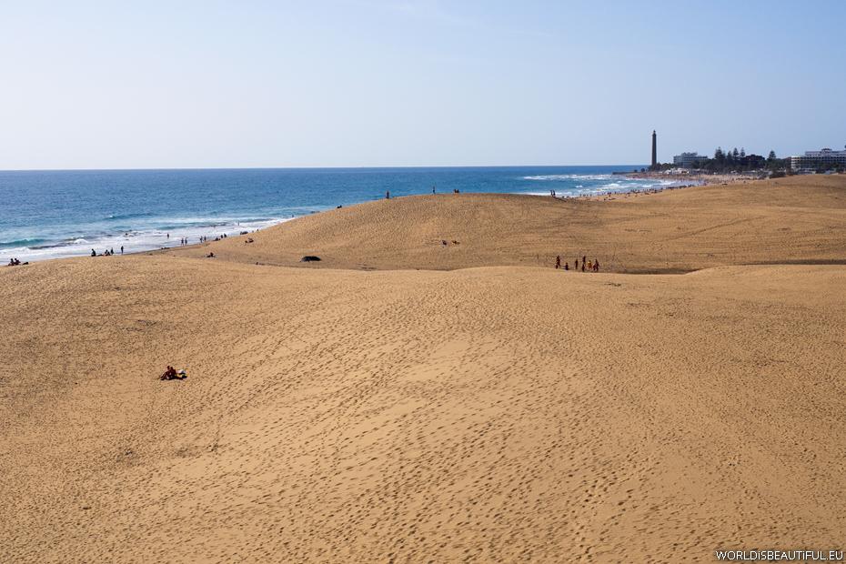 Wydmy i plaża w Maspalomas