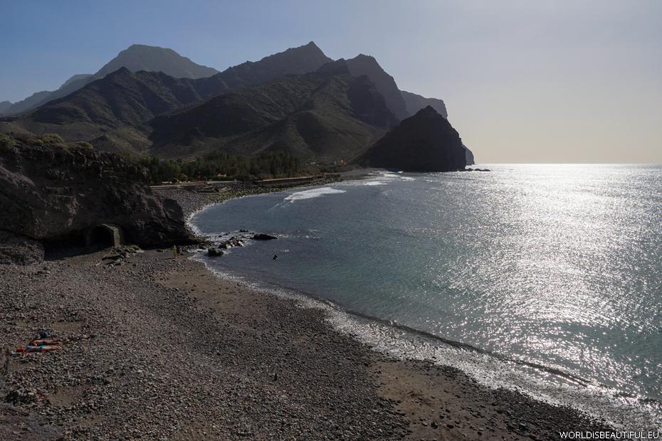 Plaża w La Aldea de San Nicolas