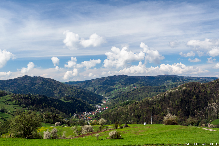 Spring landscapes in the mountains