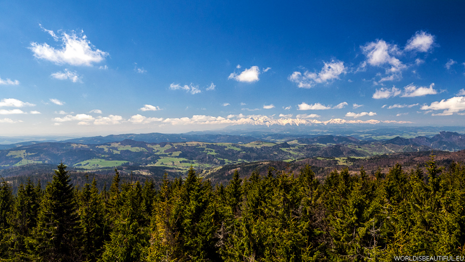 Panorama of the mountains from Radziejowa