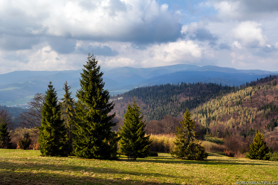 Mountain views, Beskid Sadecki