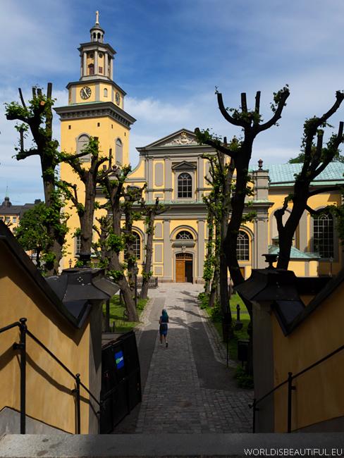 Zabytkowy kościół Maria Magdalena Kyrka