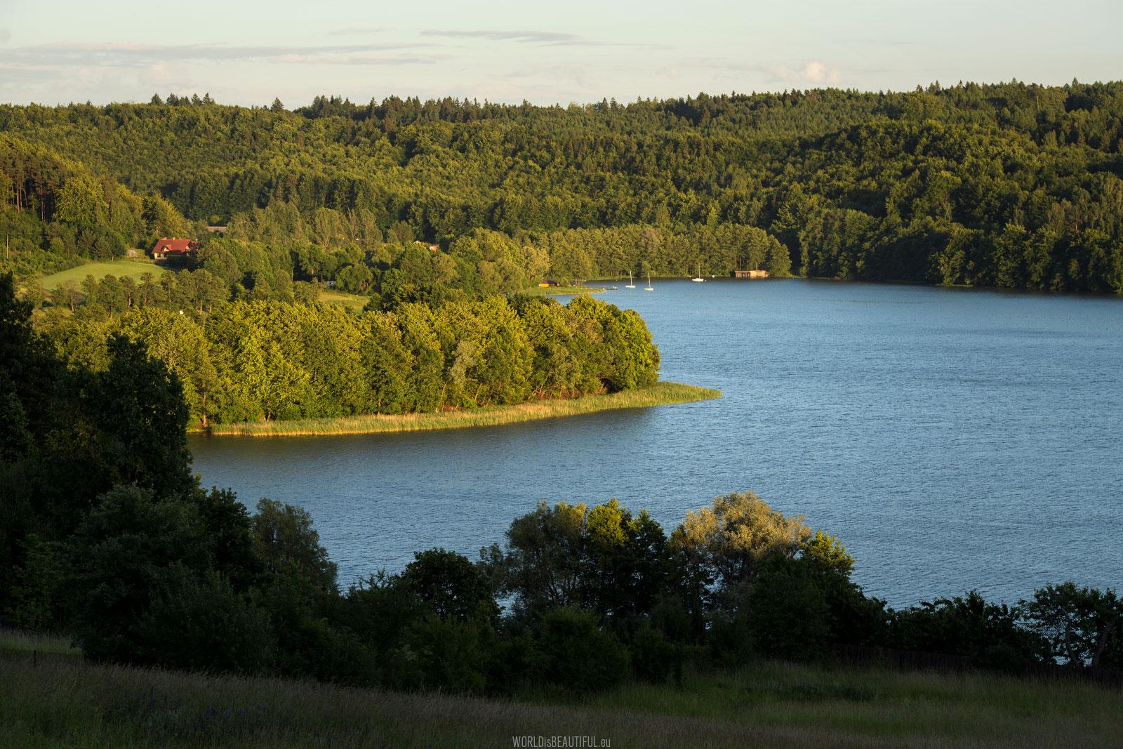 Ostrzyckie Lake in Poland