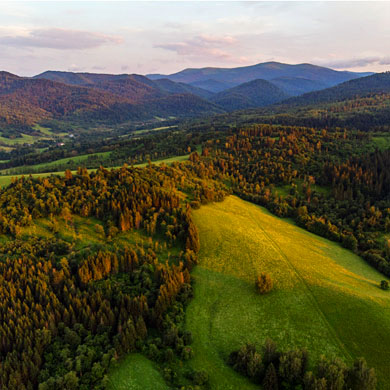 Aerial Views of Bieszczady