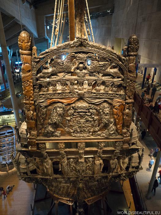 Stern of Vasa warship