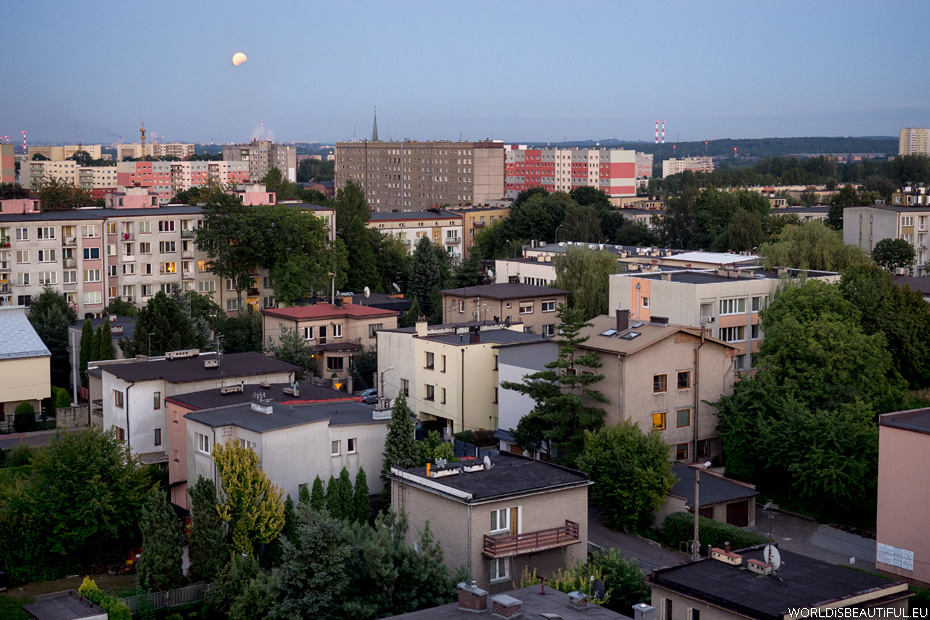 Eclipse of the moon in Katowice