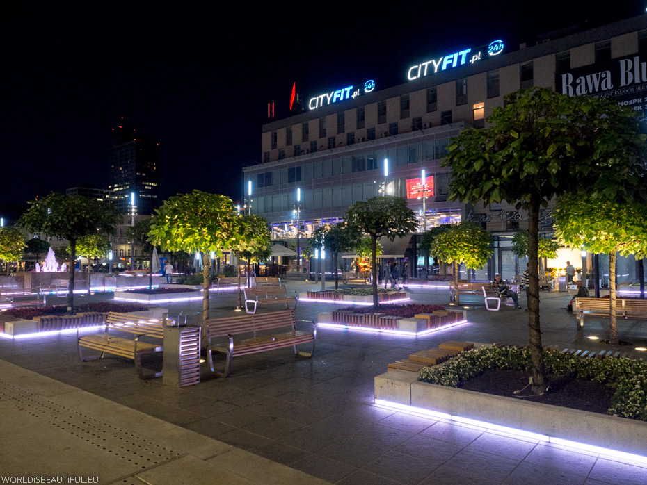 Katowice by night
