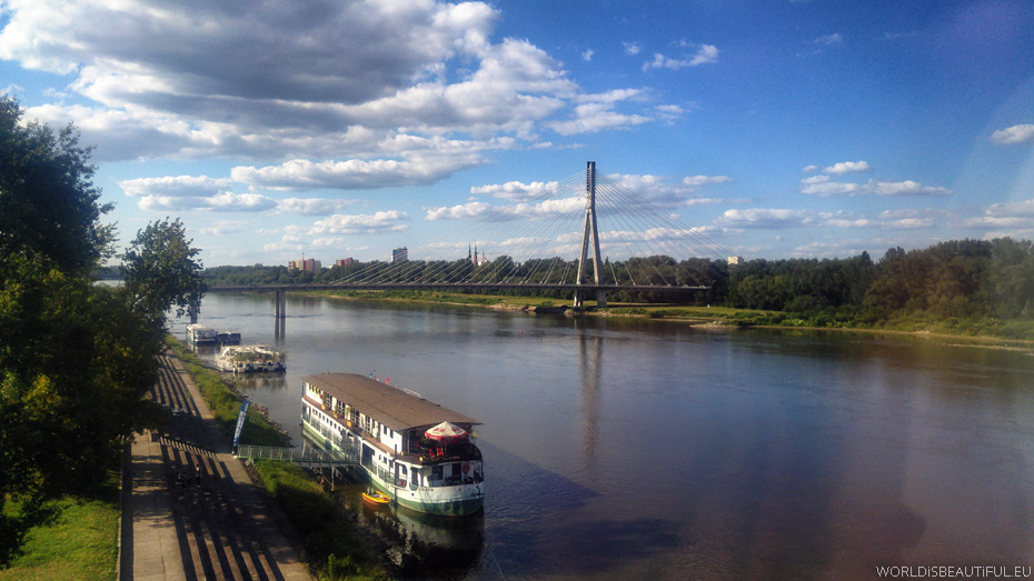 The Vistula River in Warsaw