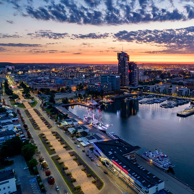 Gdynia from a bird's eye view