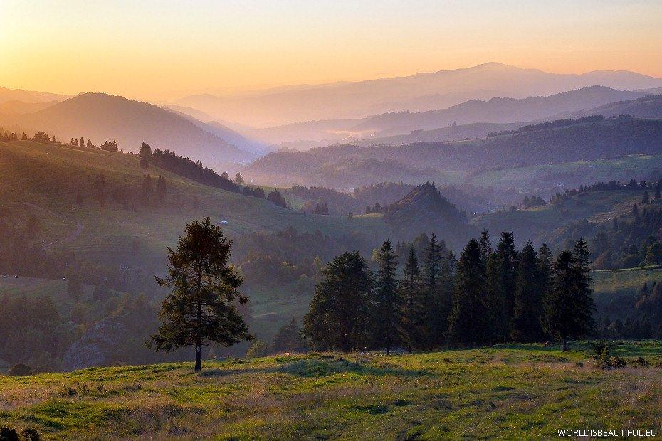 Widok z przełęczy Rozdziela