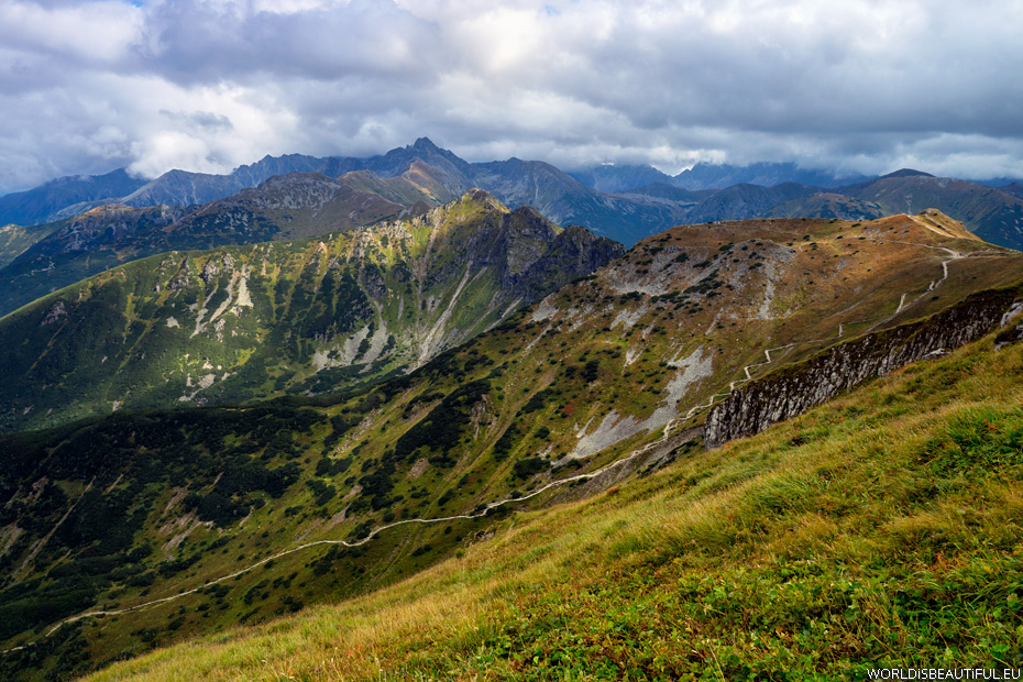 Panorama of the Tatra Mountains from Kondracka Kopy