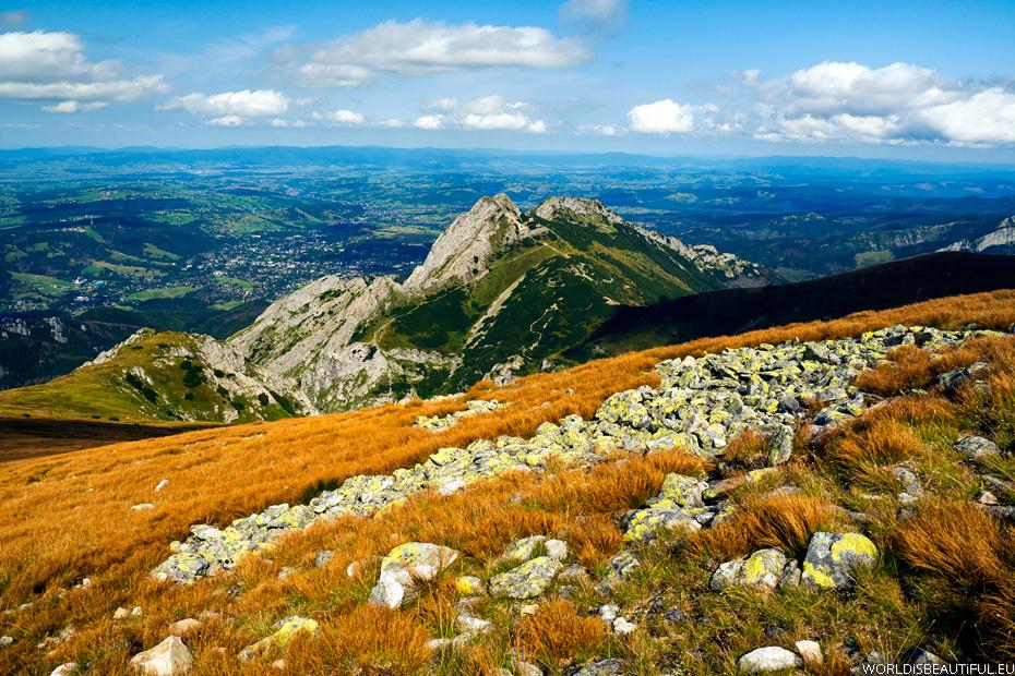 Mountain slope - Maczęniak and Giewont
