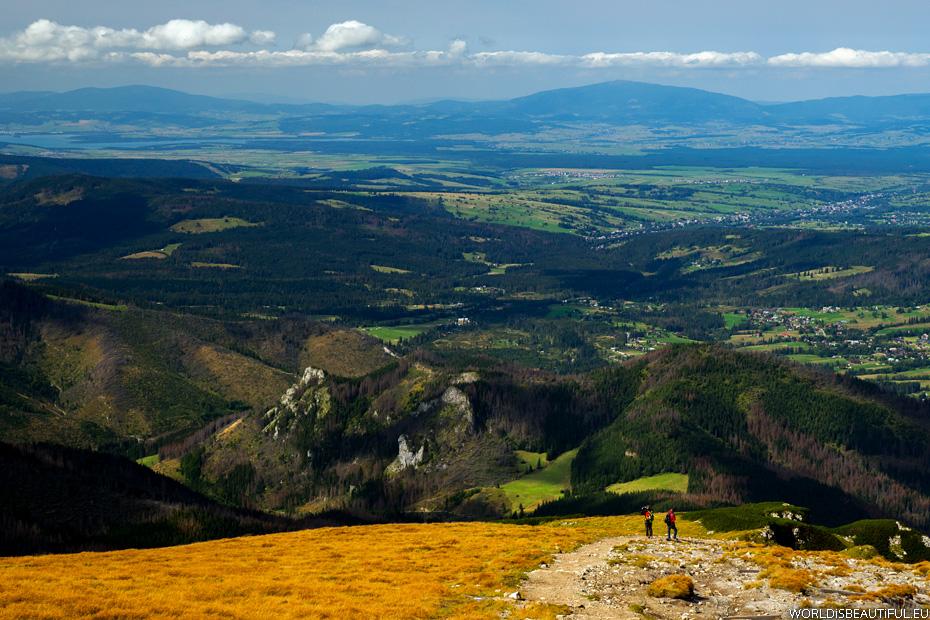 Babia Góra widok z Tatr