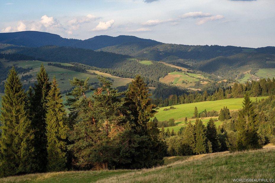 Małe Pieniny, górskie krajobrazy