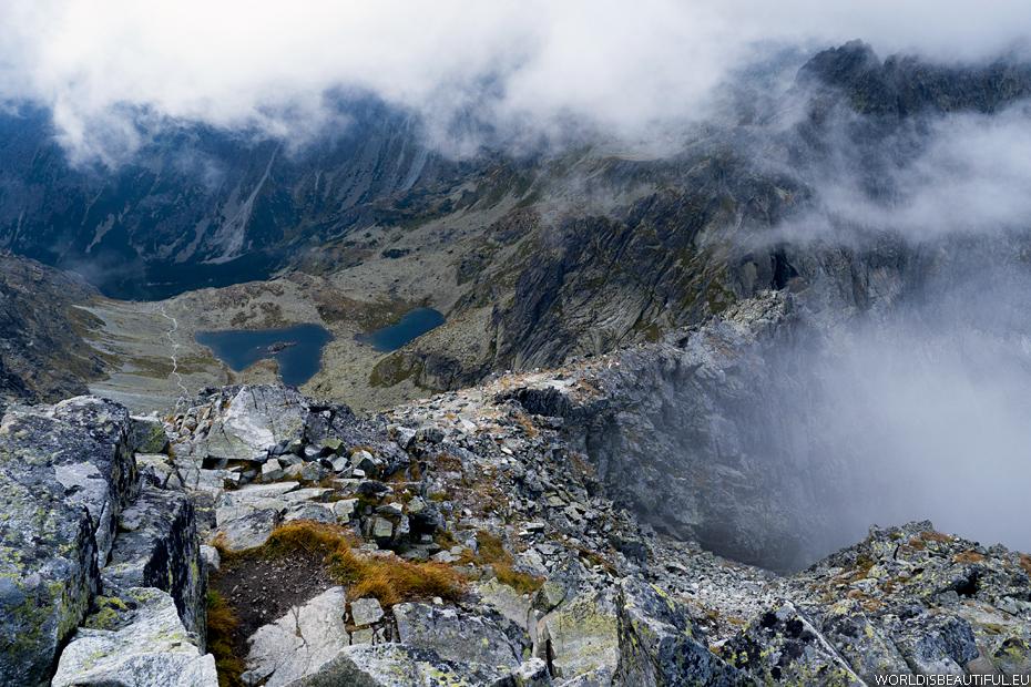 Panorama z Rysów na słowacką stronę