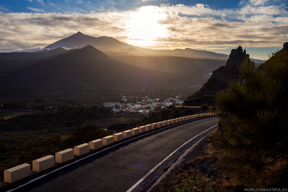 Teide and Santiago del Teide