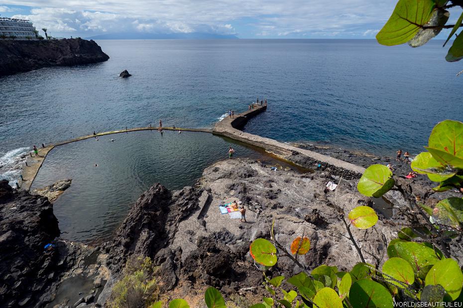 Naturalny basen w Los Gigantes