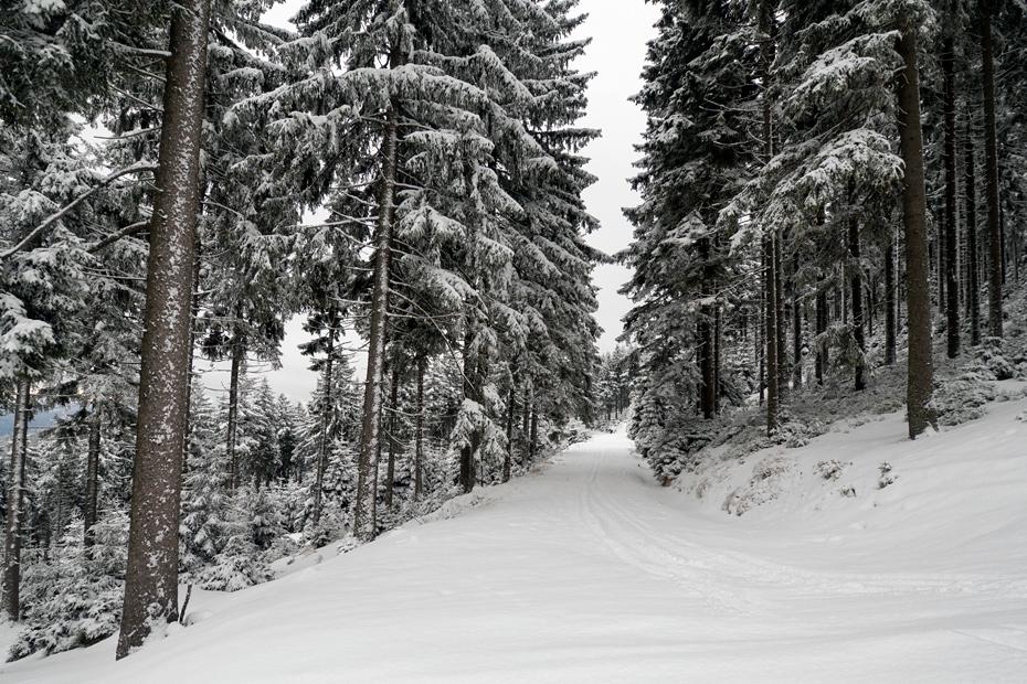 Sudety, widoki zimowe