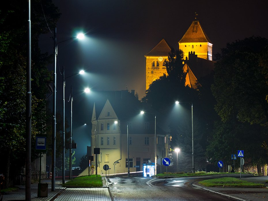 Kętrzyn by night