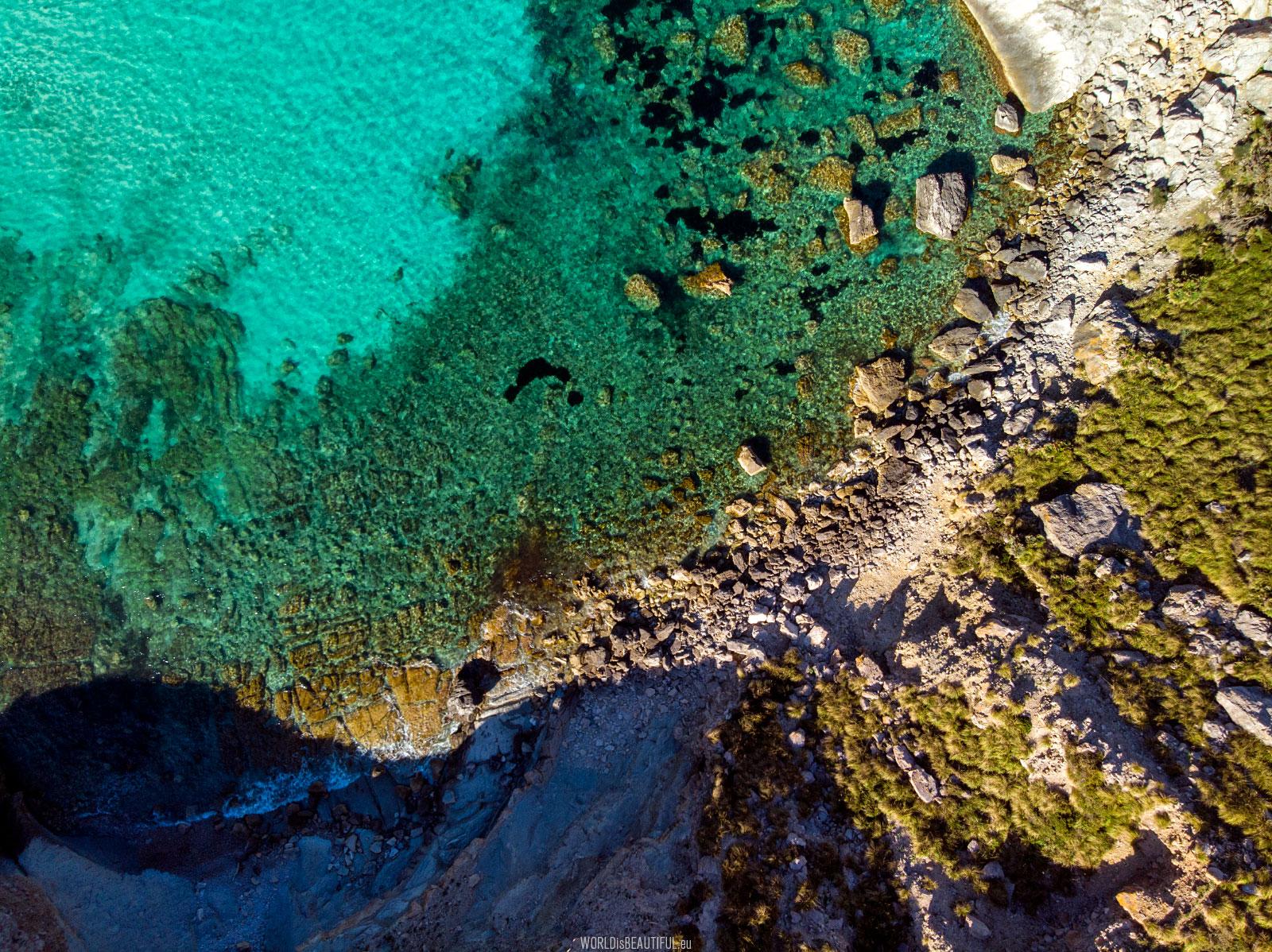 Zdjęcie z drona - Cala Figuera Majorka