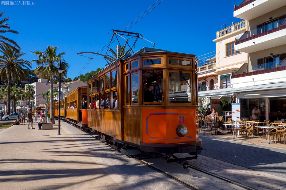 The historic tram from Port de Soller to Soller