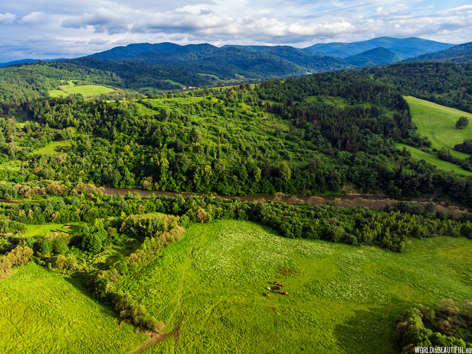 The San Valley and the Bieszczady Mountains