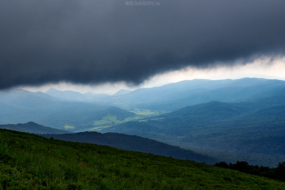 Storm in the Bieszczady Mountains