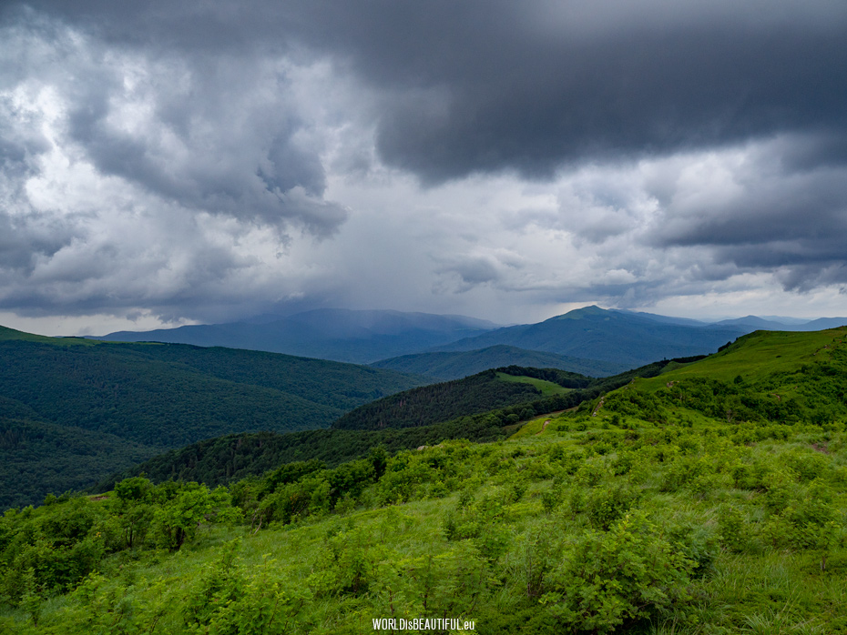Rain in the mountains, Bieszczady Poland