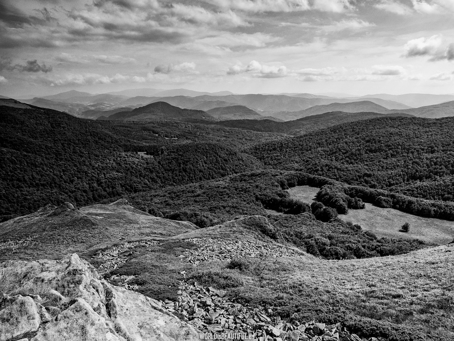 Black and white photos - Bieszczady Mountains