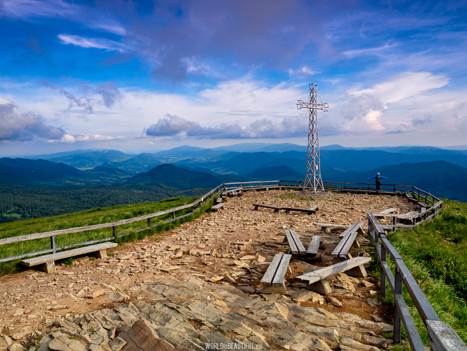 Tarnica 1346 m - the highest peak of the Bieszczady Mountains